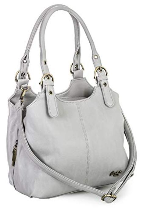 Best Price! Womens Handbag - Multi Compartments Bag with a Long Shoulder Strap