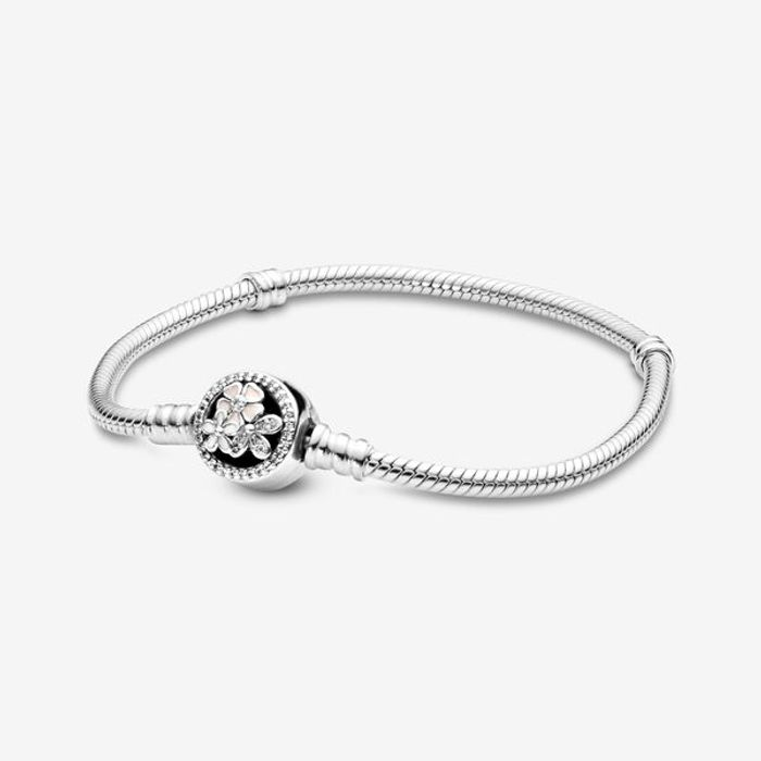 Pandora Moments Poetic Blooms Clasp Snake Chain Bracelet - Save £36!