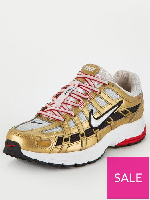 *SAVE £50* Nike P-6000 Trainers - White/Gold Sizes 4/5/6/7