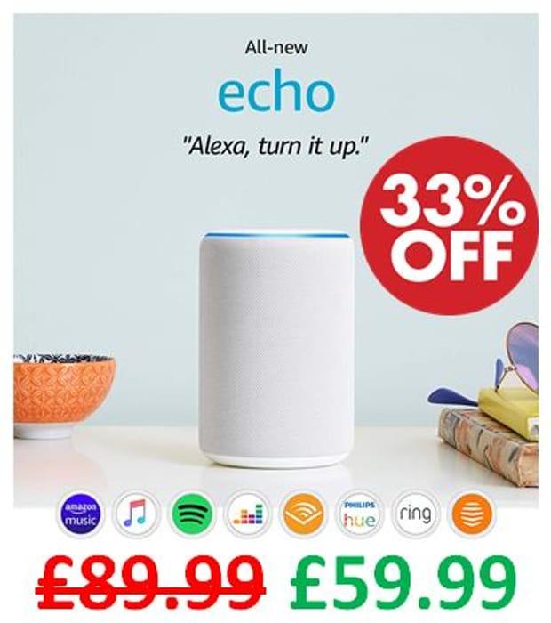 All-New Amazon Echo (3rd Gen) | Smart Speaker with Alexa - ALL FABRICS