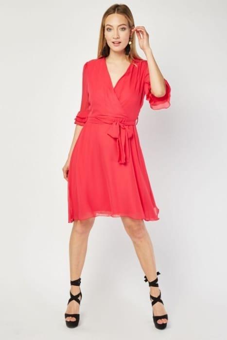 Zibi London Tiered Sleeve Chiffon Dress £15.00
