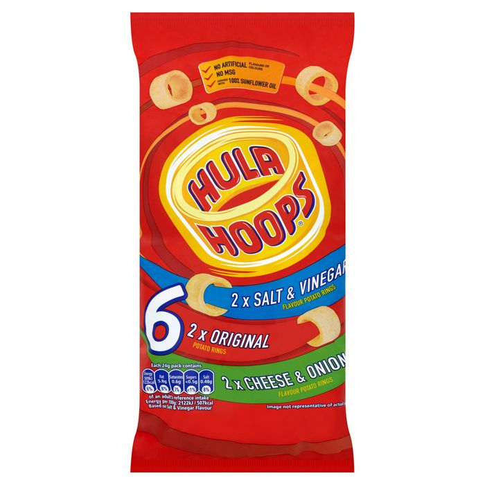 Kp Hula Hoops Family 6X24g - Save £0.70!