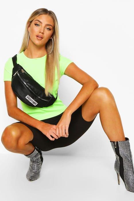 Women Diamante PU Bum Bag - Save £9!