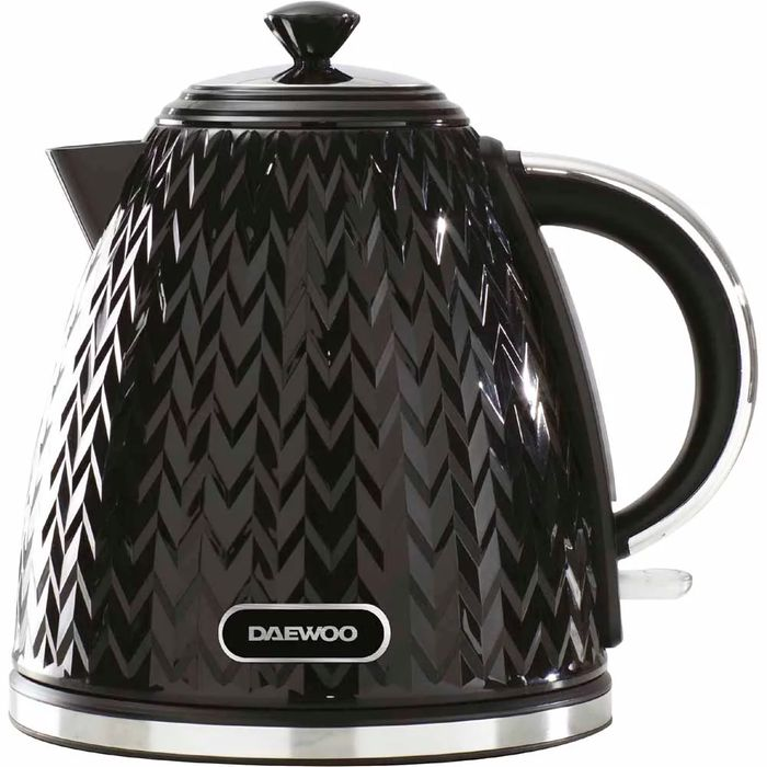 Daewoo Black 1.7L Argyle Kettle 3KW (Black and White Colours Available)