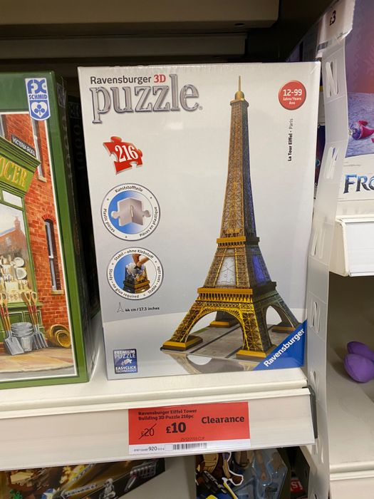 Eiffel Tower 3D Puzzle - Half Price