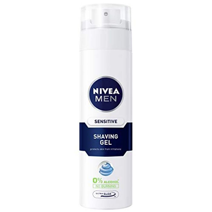Best Ever Price! NIVEA MEN Sensitive Shaving Gel Pack of 6 (6 X 200ml)