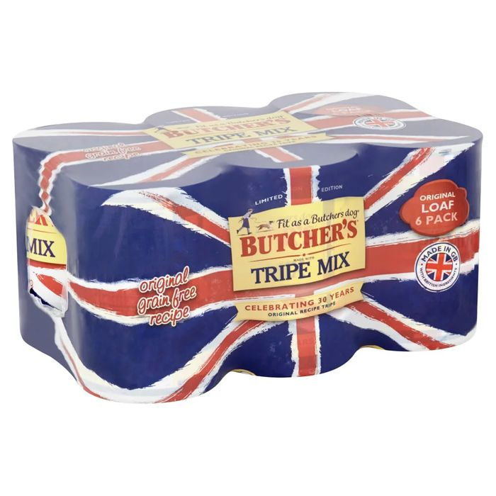 Cheap Butchers Tripe Recipes Dog Food in Jelly (6 X 400g) - Save £0.50!