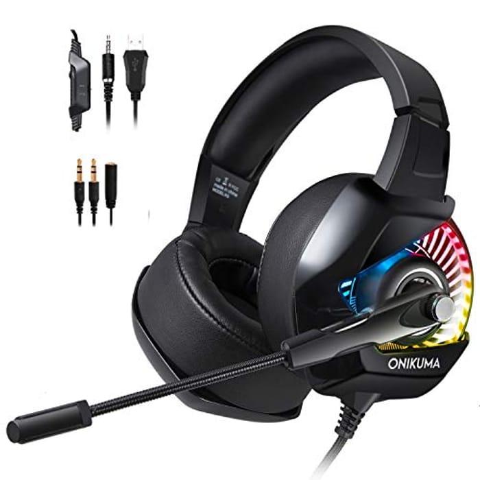 ONIKUMA Gaming Headset K6 3.5mm Stereo Sound, Ergonomic Design