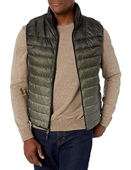 Hawke & Co Mens Lightweight Packable down Vest Size M Black