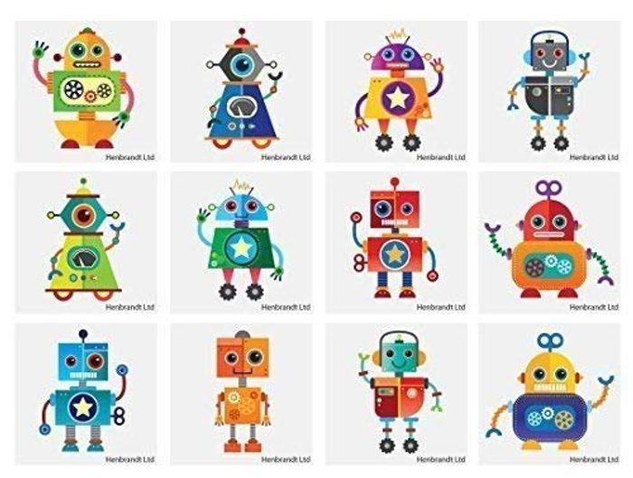 24 X Robot Temporary Tattoos