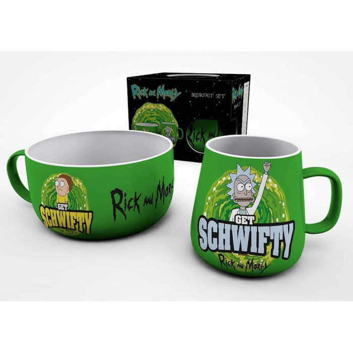 Rick and Morty (Get Schwifty) Breakfast Set