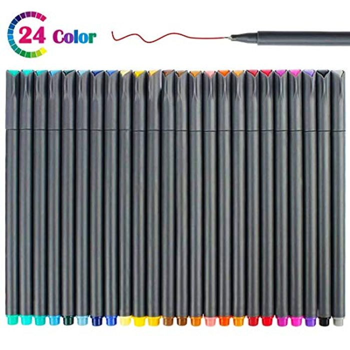 24 Fineliners Pens 50% Off