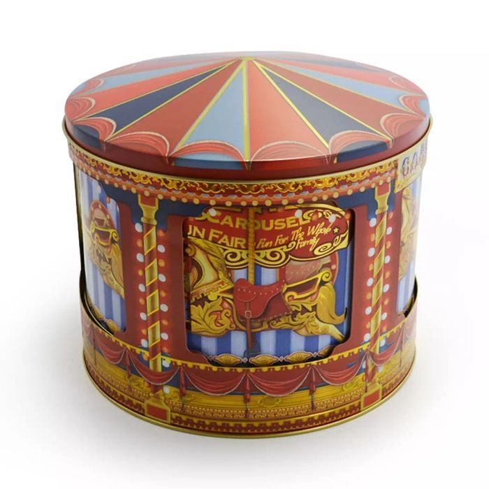 Rotating Musical Carousel Biscuit Tin 450G - Free Delivery with Code