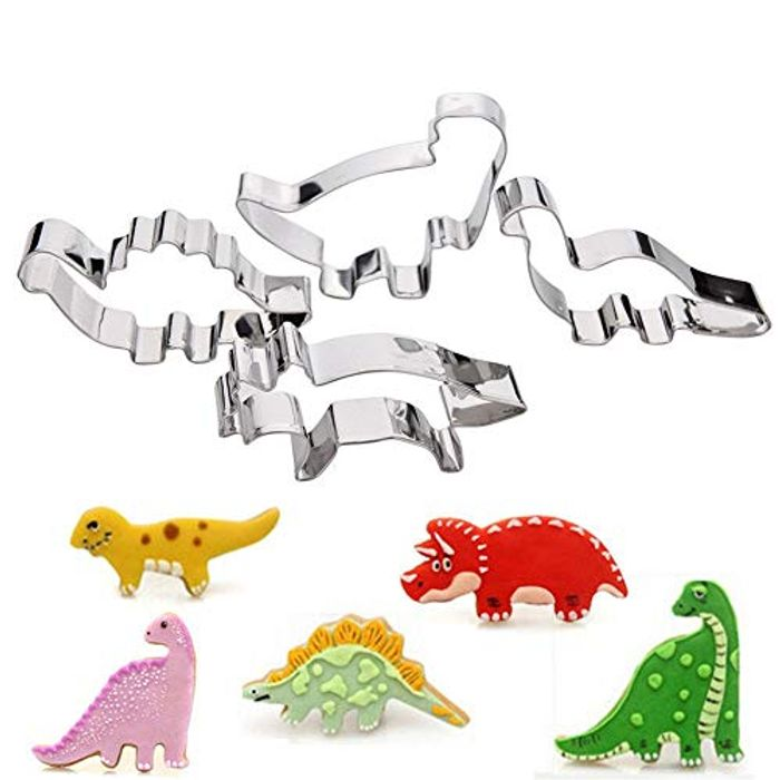 Best Price! Stainless Steel Cookie Cutter Set Dinosaur Shape Colorful and Cute