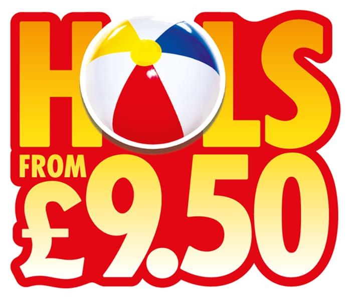 £9.50 Sun Holidays
