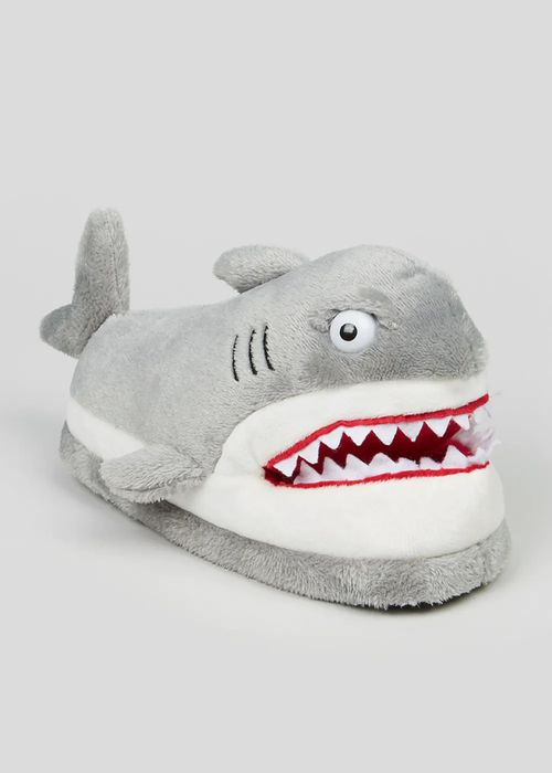 Cheap Kids Grey Shark Slippers (Younger 10-Older 6) Only £5!