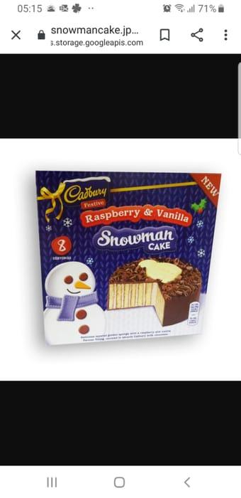 Cadbury Snowman Cake