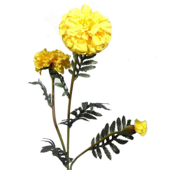 Artificial Yellow Spring Marigold Spray £1.25 Was £2.50