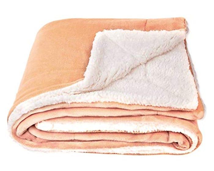Sherpa Fleece Throw Blanket, Double-Sided Super Soft