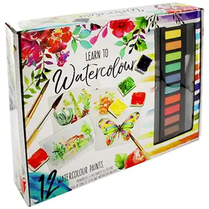 Learn to Watercolour Kit  Free C&c