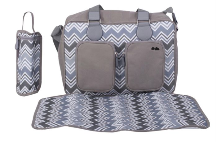 My Babiie Deluxe Changing Bag *Samantha Faiers Collection* - Charcoal Chevron