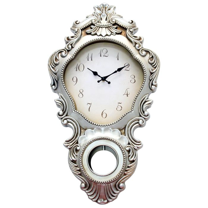 1/2 Price Aria Silver Wall Clock