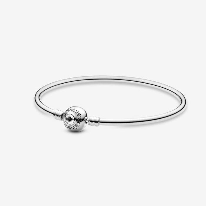 Disney Pandora Aladdin & Jasmine Silver Bangle