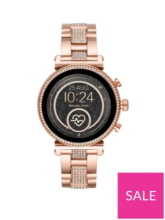 *SAVE £156* Michael Kors Full Display Crystal Set Dial Smart Watch