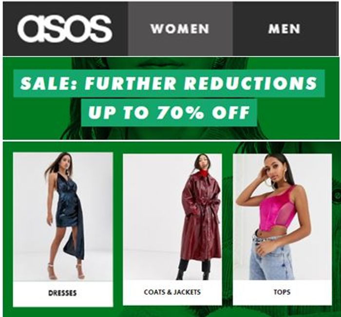 ASOS SALE - Further Reductions - Now up to 70% OFF