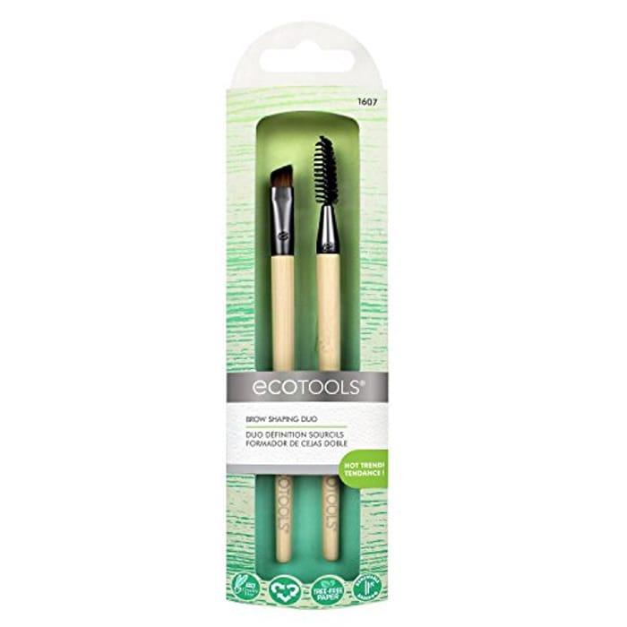 EcoTools Brow Shaping Makeup Brush Duo - Save £0.50!