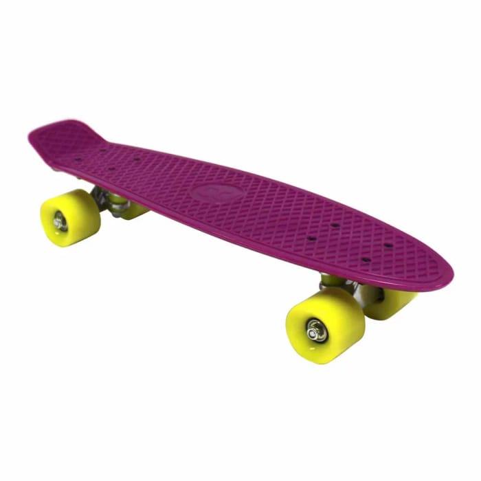 "Charles Bentley 22"" Purple Retro Mini Skateboard"