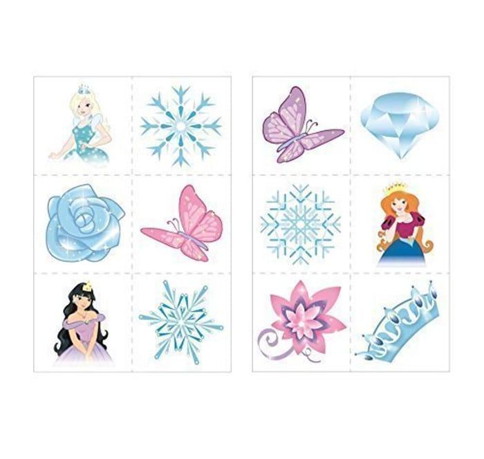 24 X Ice Princess Snow Queen Temporary Tattoos