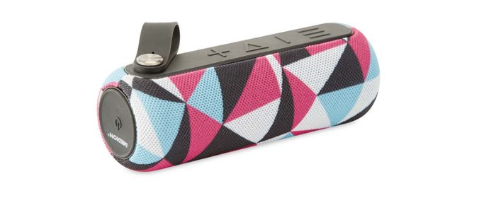 Pink Bluetooth Speaker Patterned