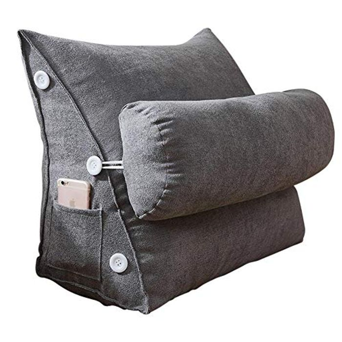 Adjustable Back Wedge Cushion Reading Pillow with Neck Support
