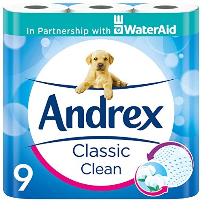 Amazon Pantry Item Andrex Classic Clean Toilet Tissue, 9 Rolls - Save £1.25!