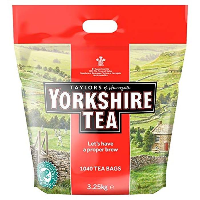 Amazon Pantry Item Yorkshire Tea Bags, 3.25 Kg (1040 Teabags) - Save £4.49!