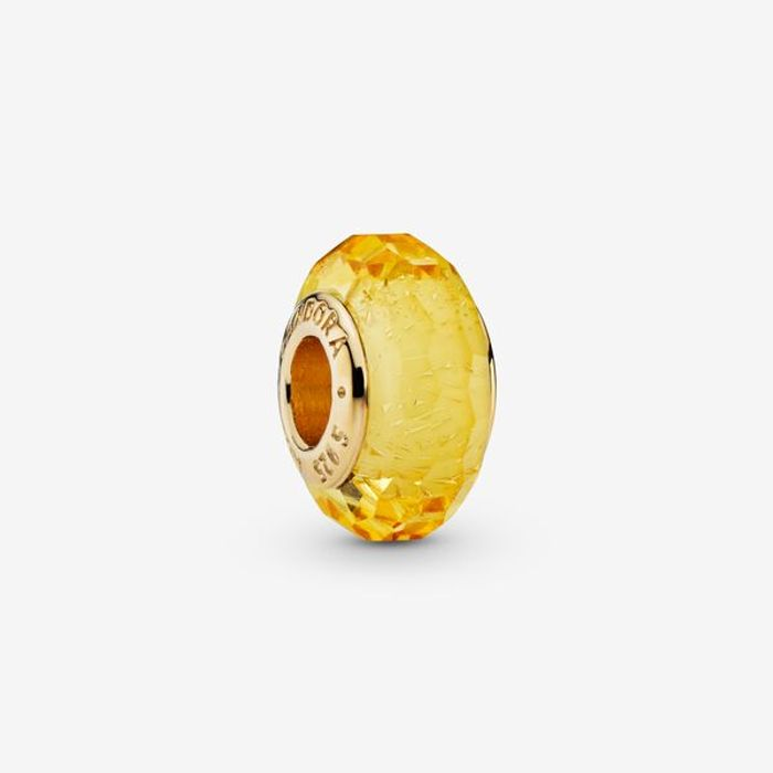 Faceted Golden Murano Glass Charm - Save £10!
