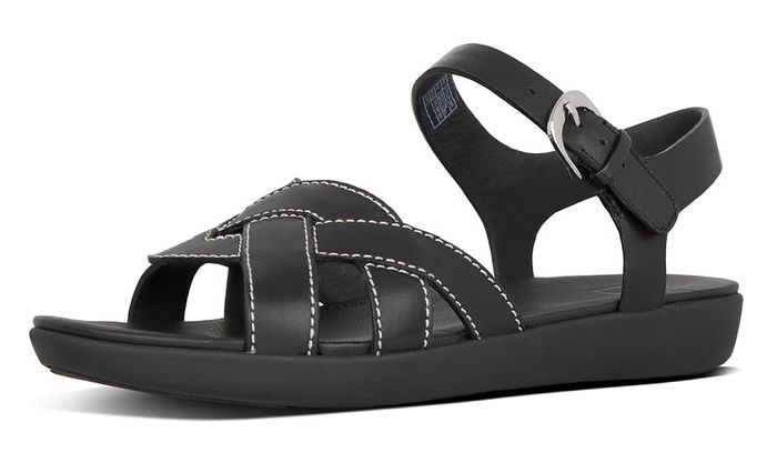 Cheap Elyna Weave Leather Back-Strap Sandals at FitFlop Ltd Only £22!