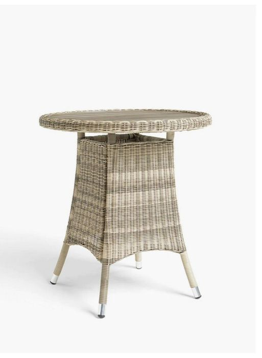 John Lewis & Partners Dante Wood-Effect Top Garden Bistro Table, Natural