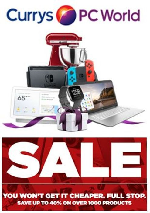 CURRYS January Sale - save £££S on over 1,000 Products