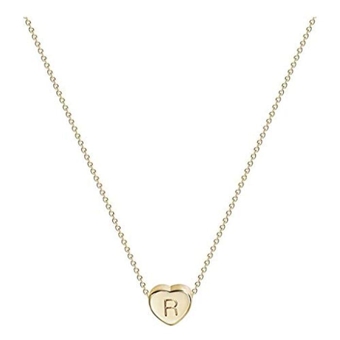 Sinwasd Women Mini 26 Letter Necklaces Alloy Clavicle Accessories