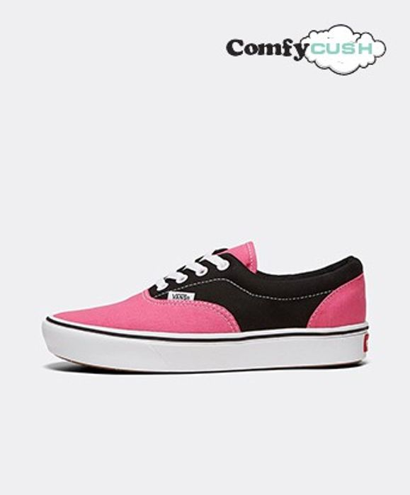 Vans Womens Era ComfyCush Trainer | Carmin Rose / Black / True White