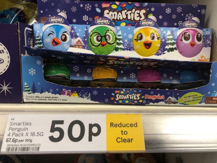 4 PACK of CHRISTMAS SMARTIES JUST 50p