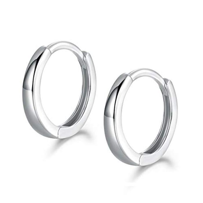 Hoop Earrings 925 Sterling Silver