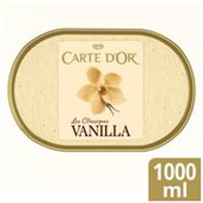 Carte D'Or Classics Madagascan Vanilla Ice Cream Dessert 1L