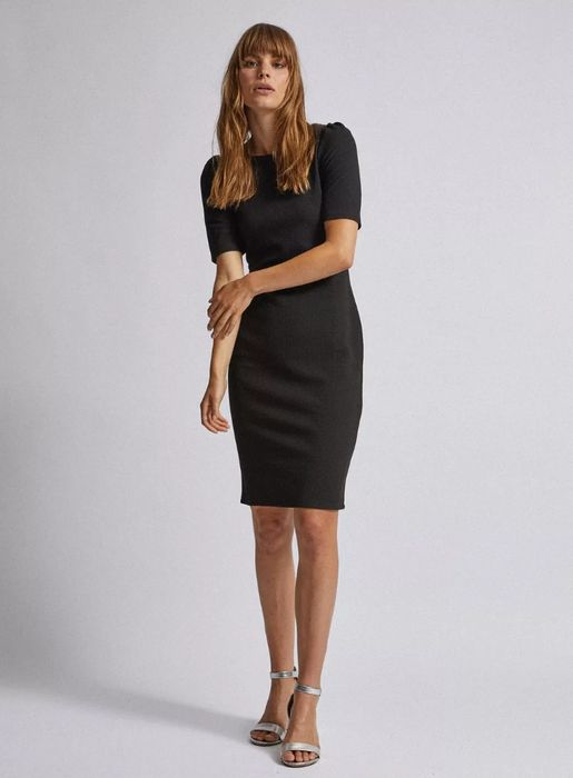 Textured Bodycon Dress (Choice of Purple, Green, Berry or Black)