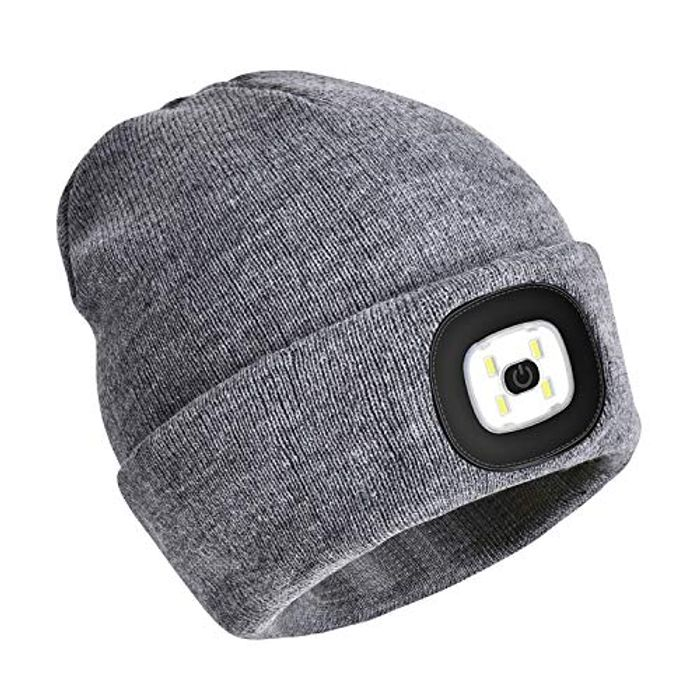 Lightning Deal! PRAVETTE LED Lighted Beanie Hat,USB Rechargeable