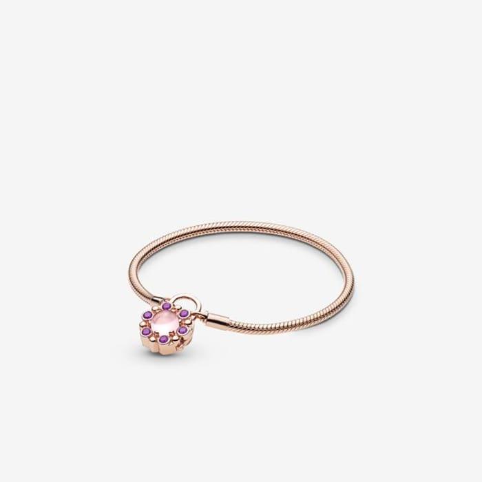 Moments Heraldic Radiance Padlock Clasp Bracelet