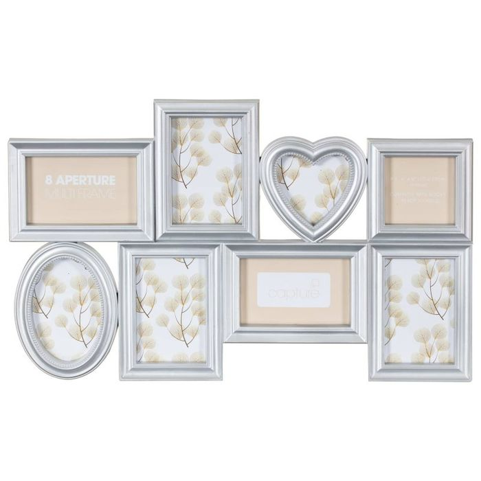 Silver Heart Aperture Photo Frame- Silver