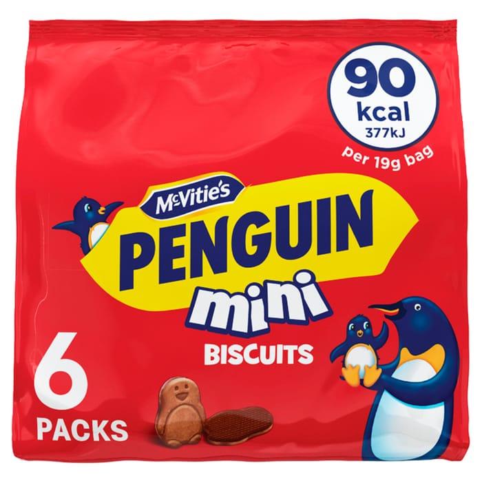 Mcvities Penguin Mini Biscuit 6 X 19G